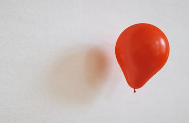 red balloon on a wall - 3D Rendering- Stock Photo or Stock Video of rcfotostock | RC-Photo-Stock