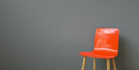 red chair in a waiting room of a office, with copy space for individual text - Stock Photo or Stock Video of rcfotostock | RC-Photo-Stock