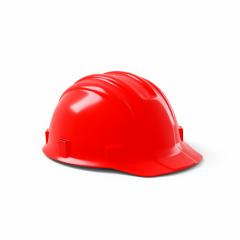 red construction helmet isolated on white background. 3D rendering- Stock Photo or Stock Video of rcfotostock | RC-Photo-Stock