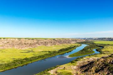 Red Deer River valley near drumheller in canada- Stock Photo or Stock Video of rcfotostock | RC-Photo-Stock