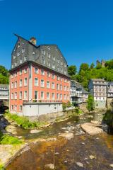 Red house in Monschau- Stock Photo or Stock Video of rcfotostock | RC-Photo-Stock