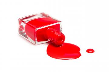 Red nail polish bottle isolated on white- Stock Photo or Stock Video of rcfotostock | RC-Photo-Stock