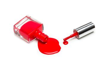 Red nail polish isolated on white background- Stock Photo or Stock Video of rcfotostock | RC-Photo-Stock