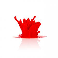 red paint splashing isolated on white- Stock Photo or Stock Video of rcfotostock | RC-Photo-Stock