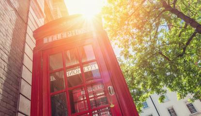 Red phone box at summer in London, United Kingdom,- Stock Photo or Stock Video of rcfotostock | RC-Photo-Stock