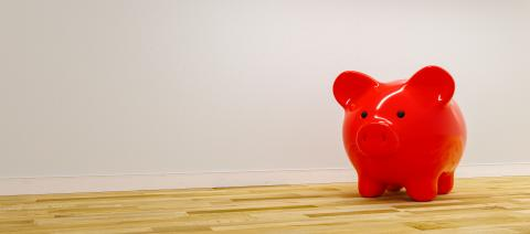 red Piggy Bank, Savings, Currency.  - copyspace for your individual text.- Stock Photo or Stock Video of rcfotostock | RC-Photo-Stock