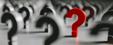 Red question mark in a row of black question marks- Stock Photo or Stock Video of rcfotostock | RC-Photo-Stock