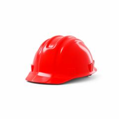 red safety helmet on white background. 3D rendering- Stock Photo or Stock Video of rcfotostock | RC-Photo-Stock