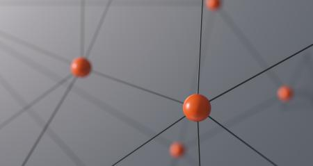 Red spheres on dark background, network concept image- Stock Photo or Stock Video of rcfotostock | RC-Photo-Stock
