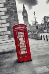 Red Telephone Booth and Big Ben in London street, uk- Stock Photo or Stock Video of rcfotostock | RC-Photo-Stock