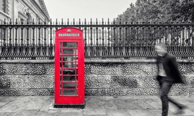 red telephone booth on street in London- Stock Photo or Stock Video of rcfotostock | RC-Photo-Stock