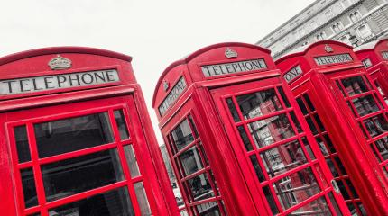 red telephone boxes of Broad Court, Covent Garden, london, uk- Stock Photo or Stock Video of rcfotostock | RC-Photo-Stock