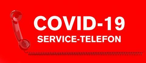 Red telephone Corona emergency help hotline with german text Service Telefon- Stock Photo or Stock Video of rcfotostock | RC-Photo-Stock
