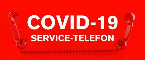 Red telephones Corona emergency help hotline with german text Service Telefon- Stock Photo or Stock Video of rcfotostock | RC-Photo-Stock