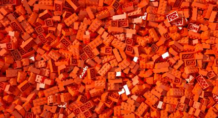 Red toy bricks background - concept image - 3D Rendering Illustration- Stock Photo or Stock Video of rcfotostock | RC-Photo-Stock