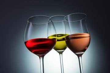 red, white and Rosé wine glasses- Stock Photo or Stock Video of rcfotostock | RC-Photo-Stock