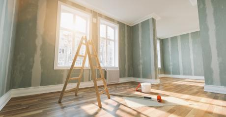 Renovation and modernization with Flattened drywall walls : Stock Photo or Stock Video Download rcfotostock photos, images and assets rcfotostock | RC-Photo-Stock.: