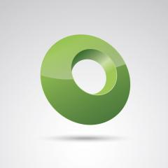 ring 3d vector icon as logo formation in green glossy colors, Corporate design. Vector illustration. Eps 10 vector file.- Stock Photo or Stock Video of rcfotostock | RC-Photo-Stock