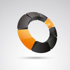 ring frames 3d vector icon as logo formation in black and orange glossy colors, Corporate design. Vector illustration. Eps 10 vector file.- Stock Photo or Stock Video of rcfotostock | RC-Photo-Stock