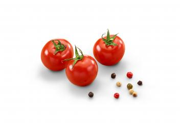 Ripe Tomatoes and Pepper - Isolated- Stock Photo or Stock Video of rcfotostock | RC-Photo-Stock
