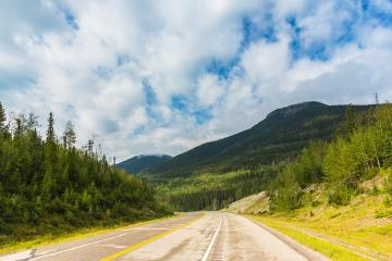 Road tio the Rocky mountains at Banff national park Canada - Stock Photo or Stock Video of rcfotostock | RC-Photo-Stock
