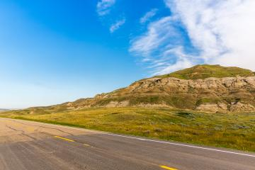Road to Drumheller badlands in Canada- Stock Photo or Stock Video of rcfotostock | RC-Photo-Stock