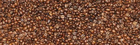 Roasted coffee beans background texture or backdrop, banner size- Stock Photo or Stock Video of rcfotostock | RC-Photo-Stock
