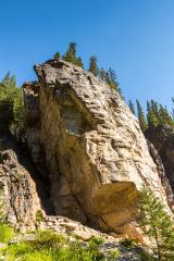 Rock Climbing Lake Louise in banff Canada : Stock Photo or Stock Video Download rcfotostock photos, images and assets rcfotostock | RC-Photo-Stock.: