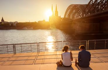 romantic couple spending their vacation in Cologne- Stock Photo or Stock Video of rcfotostock | RC-Photo-Stock