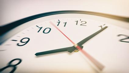 Round office clock in motion- Stock Photo or Stock Video of rcfotostock | RC-Photo-Stock