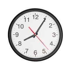 Round office clock shows time on white : Stock Photo or Stock Video Download rcfotostock photos, images and assets rcfotostock | RC-Photo-Stock.: