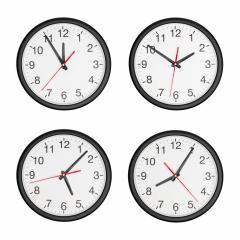 round wall clock set isolated on white background- Stock Photo or Stock Video of rcfotostock | RC-Photo-Stock