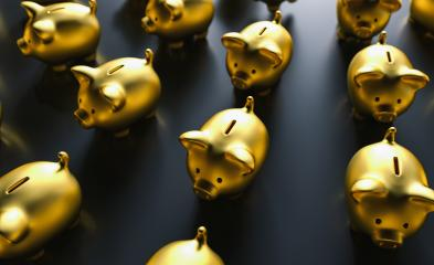 Row of golden piggy banks : Stock Photo or Stock Video Download rcfotostock photos, images and assets rcfotostock | RC-Photo-Stock.: