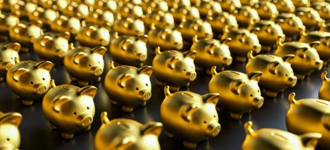 Row of piggy banks : Stock Photo or Stock Video Download rcfotostock photos, images and assets rcfotostock | RC-Photo-Stock.:
