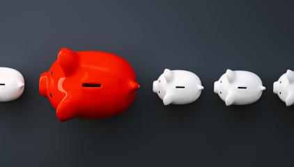 Row of piggy banks- Stock Photo or Stock Video of rcfotostock | RC-Photo-Stock