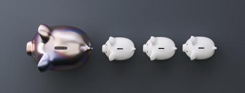 row of piggy banks, metalic luxery concept image : Stock Photo or Stock Video Download rcfotostock photos, images and assets rcfotostock | RC-Photo-Stock.: