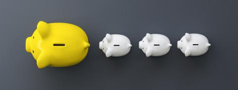 row of piggy banks, summer concept image : Stock Photo or Stock Video Download rcfotostock photos, images and assets rcfotostock | RC-Photo-Stock.: