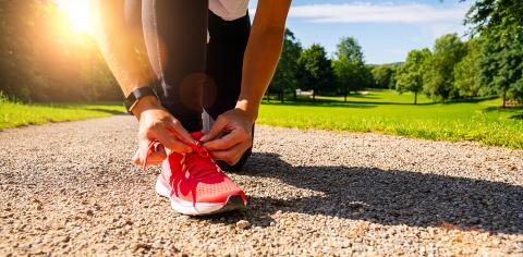 Running shoes runner woman tying laces for summer run in forest park. Jogging girl exercise motivation heatlh and fitness. : Stock Photo or Stock Video Download rcfotostock photos, images and assets rcfotostock | RC-Photo-Stock.:
