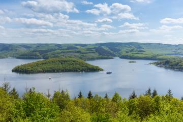 Rursee at the Eifel in summer- Stock Photo or Stock Video of rcfotostock | RC-Photo-Stock