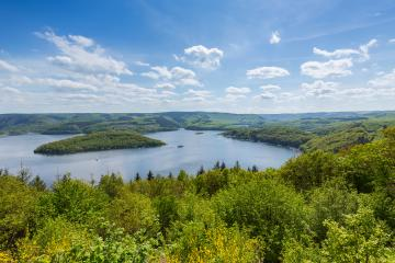 Rursee at the Eifel national park at summer- Stock Photo or Stock Video of rcfotostock | RC-Photo-Stock