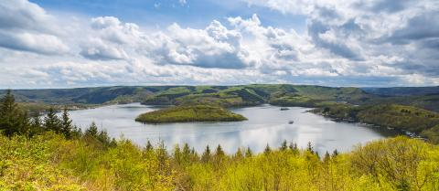 Rursee lake at the Eifel in spring : Stock Photo or Stock Video Download rcfotostock photos, images and assets rcfotostock | RC-Photo-Stock.: