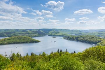 Rursee lake at the Eifel in summer : Stock Photo or Stock Video Download rcfotostock photos, images and assets rcfotostock | RC-Photo-Stock.:
