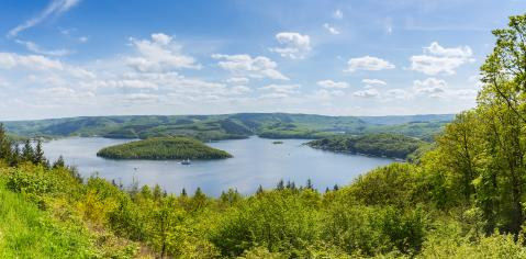 Rursee panorama at summer in the Eifel : Stock Photo or Stock Video Download rcfotostock photos, images and assets rcfotostock | RC-Photo-Stock.: