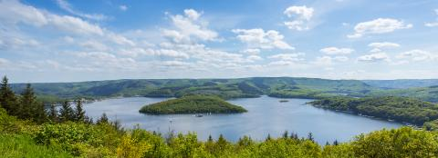 Rursee reservoir panorama at the eifel : Stock Photo or Stock Video Download rcfotostock photos, images and assets rcfotostock | RC-Photo-Stock.: