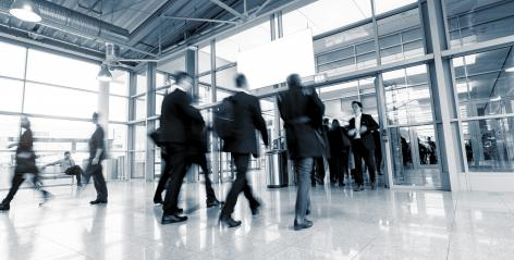 Rush Hour at a European Tradeshow entrance - Stock Photo or Stock Video of rcfotostock | RC-Photo-Stock