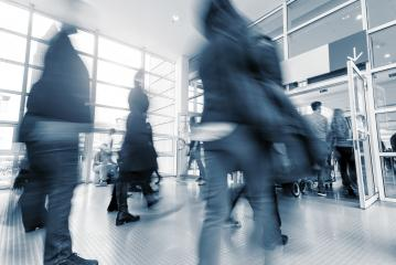 Rush Hour at a global trade fair entrance - Stock Photo or Stock Video of rcfotostock | RC-Photo-Stock