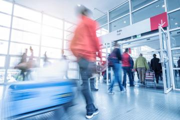 Rush Hour at a global tradeshow- Stock Photo or Stock Video of rcfotostock | RC-Photo-Stock