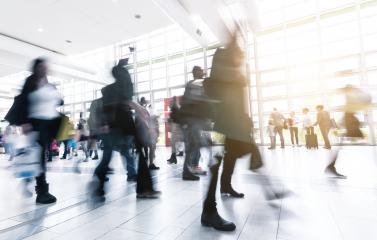 Rush Hour at a trade fair - Stock Photo or Stock Video of rcfotostock | RC-Photo-Stock