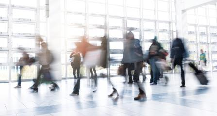Rush Hour at a trade fair floor- Stock Photo or Stock Video of rcfotostock | RC-Photo-Stock