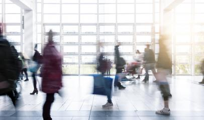 Rush Hour at a trade fair in germany- Stock Photo or Stock Video of rcfotostock | RC-Photo-Stock